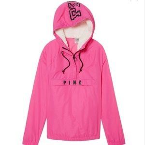 Victoria's Secret Pink Hood Windbreaker Jacket